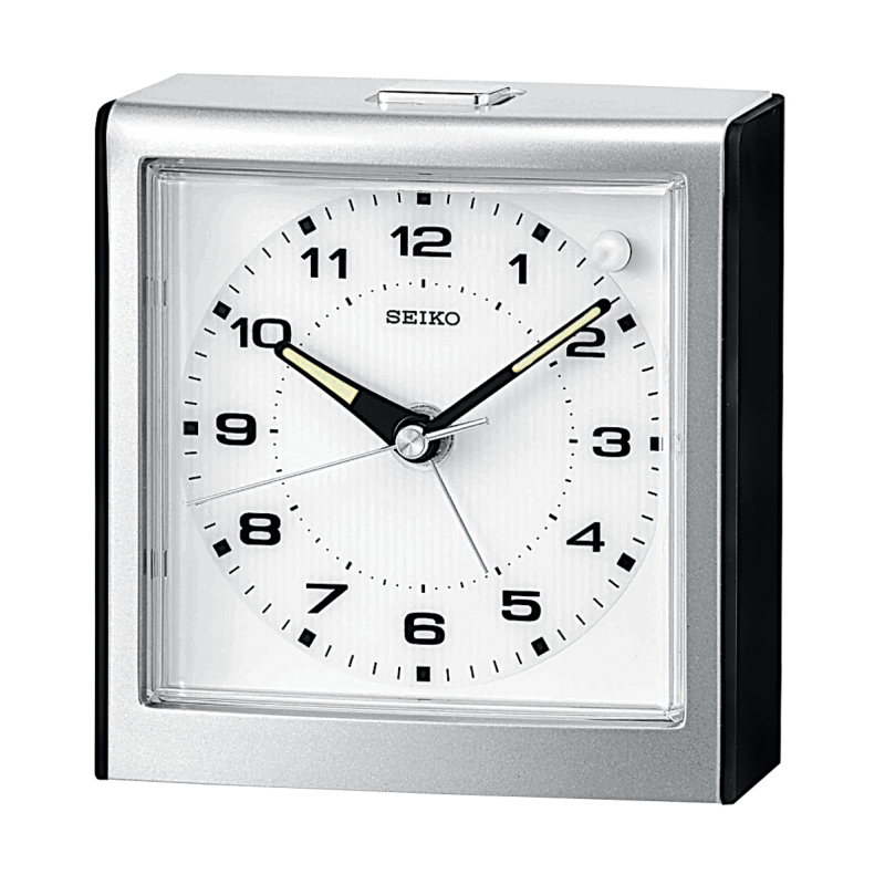 Seiko Slumber Square Bedside Alarm Clock Qhe040klh Arlex