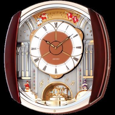 Seiko Fireworks Musical Wall Clock - Rotating Pendulum - Opening Dial