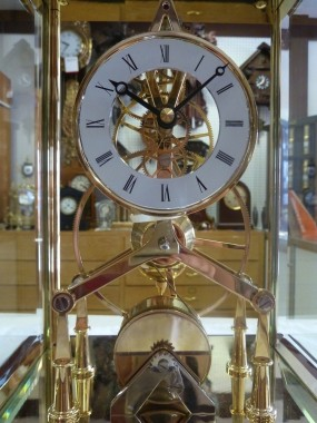 Arlex T701 Fusee Movement Skeleton Mantel Clock