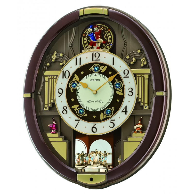 Seiko Danube Musical Wall Clock Qxm488brh Arlex Jewelry