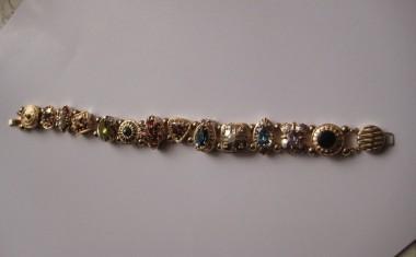 14K Yellow Gold Slide Charm Bracelet