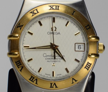 Omega Men's Constellation 1202.30.00 Automatic Chronometer Two-Tone 18K Gold and Stainless Steel Watch