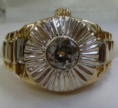 18K Yellow Gold Rolex President Diamond Ring