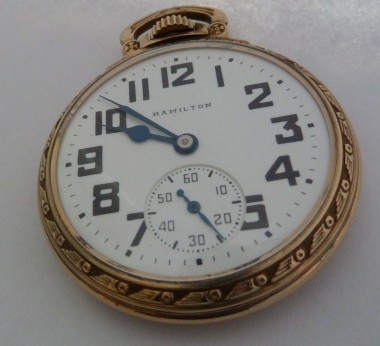 10k GF Hamilton 992B Railroad Pocket Watch